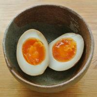 桜井花筵堂すき焼割り下で味付け卵