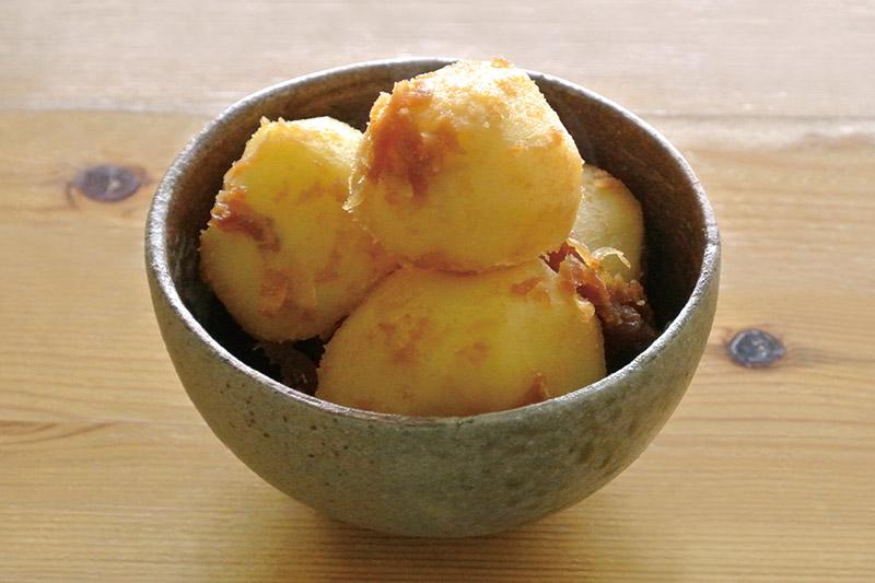 桜井花筵堂すき焼割り下で生姜の粉ふきいも
