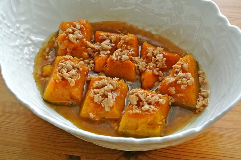 桜井花筵堂これぞ東村山うどんつゆでかぼちゃのそぼろ煮